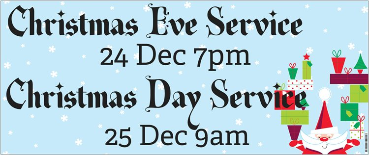 Christmas Services banner